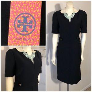 NWT Lydia Tory Burch Black Career Dress Sz 6